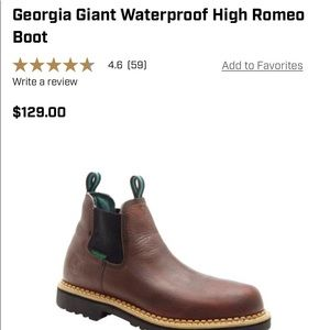Georgia boot men's Romeo high size 13